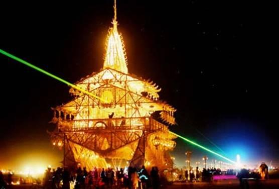 Burning Man Memorial Temple